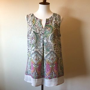 Paisley Sleeveless Blouse